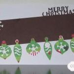 Carte de Noël Guirlande Boules