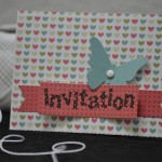 Invitation d'anniversaire scrapée