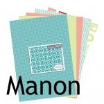La nouveauté du lundi : Collection de papiers Manon