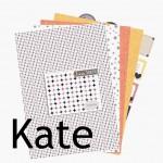 Nouveauté du lundi : papiers imprimables KATE