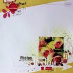 Page de scrap : la rose