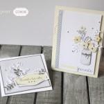 Duo de cartes printanières
