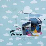 Page de scrap : dans les nuages