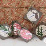 Scrap : Etiquettes pour cadeaux de Noël