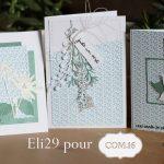 Scrap : Trio  de cartes aux couleurs givrées