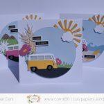 Scrap : Trio de cartes Bonnes Vacances