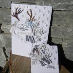 Carte et étiquette cadeau «au Cœur de l'hiver»