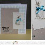 Cartes de Pâques «Joli Lapin»