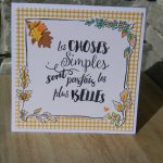 Carte « les choses simples »