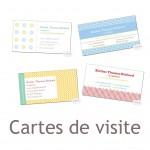 Nouveauté du lundi : les cartes de visite
