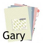 La nouveauté du lundi : Collection de papiers imprimables Gary