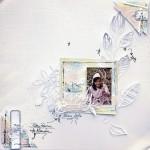 Page de scrap floral papiers Bertille