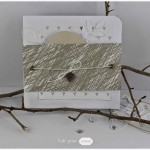Ensemble de cartes scrappees : nature et papillons