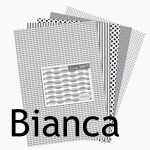 Collection de papiers à imprimer Noir et Blanc : Bianca