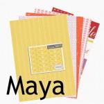 Collection de papiers à imprimer Maya