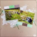 Page de scrap : faune au zoo