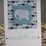 Carte de naissance elephant