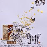 Une page de scrap : jolie mélancolie