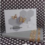 Emballage cadeau et carte graphique-baroque