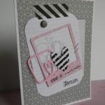 Deux cartes en nuances de gris et rose