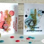 Deux cartes d'anniversaire