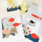 Scrap : Cartes thème mer