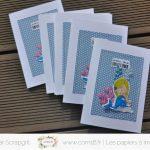 Scrap : Cartes d'invitations à 4 mains